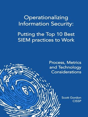 cover image of Operationalizing Information Security