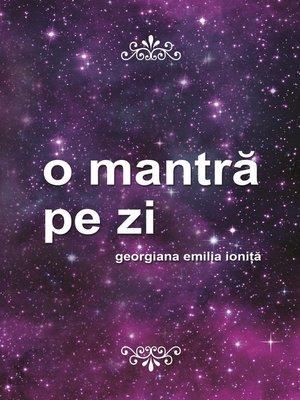 cover image of O mantra pe zi