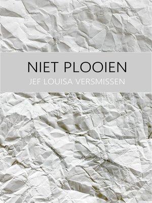 cover image of Niet plooien