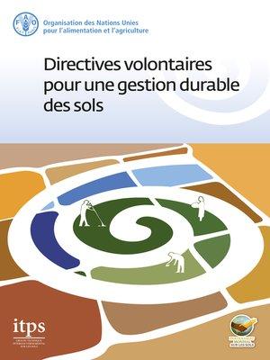 cover image of Directives volontaires pour une gestion durable des sols