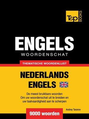 cover image of Thematische woordenschat Nederlands-Brits-Engels