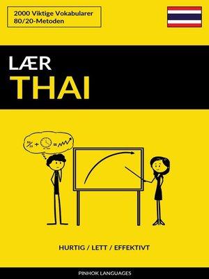 cover image of Lær Thai