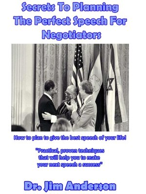 cover image of Secrets to Planning the Perfect Speech For Negotiators