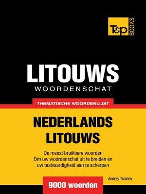 cover image of Thematische woordenschat Nederlands-Litouws