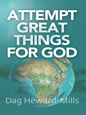 cover image of Attempt Great Things for God