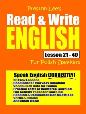 cover image of Preston Lee's Read & Write English Lesson 21