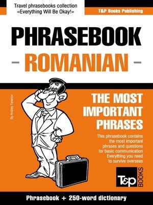 cover image of Phrasebook Romanian