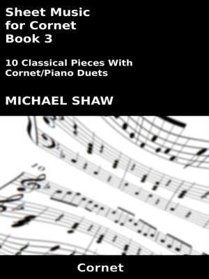 cover image of Sheet Music for Cornet