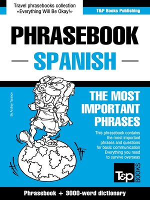 cover image of English-Spanish phrasebook and 3000-word topical vocabulary