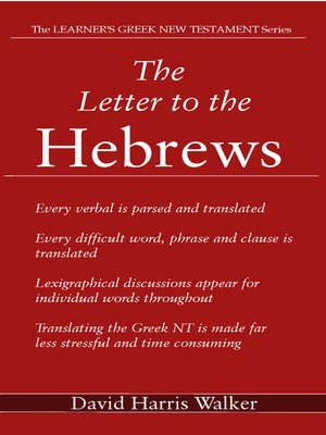 cover image of The Letter to the Hebrews