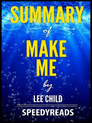 cover image of Summary of Make Me by Lee Child