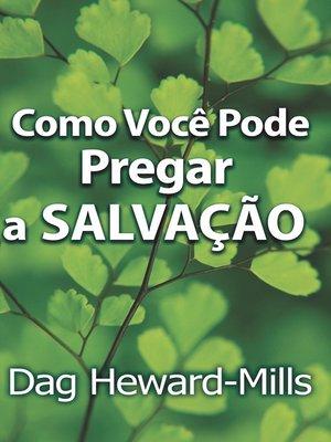 cover image of Como Você Pode Pregar a Salvação