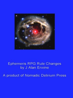 cover image of Ephemeris RPG Rule Changes