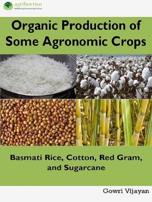 cover image of Organic Production of Some Agronomic Crops
