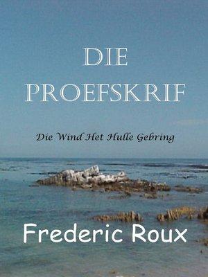cover image of Die Proefskrif