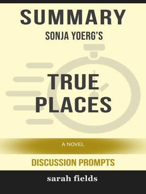 cover image of Summary of True Places