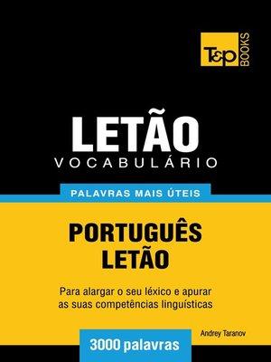 cover image of Vocabulário Português-Letão