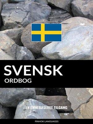 cover image of Svensk ordbog