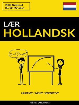 cover image of Lær Hollandsk
