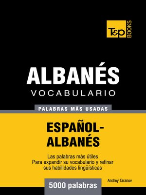 cover image of Vocabulario Español-Albanés