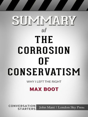 cover image of Summary of the Corrosion of Conservatism