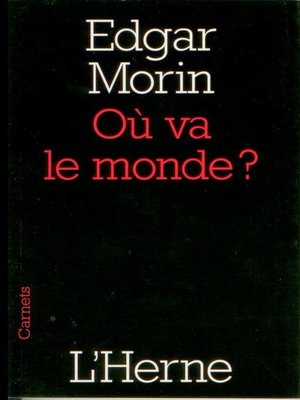 cover image of Où va le monde ?