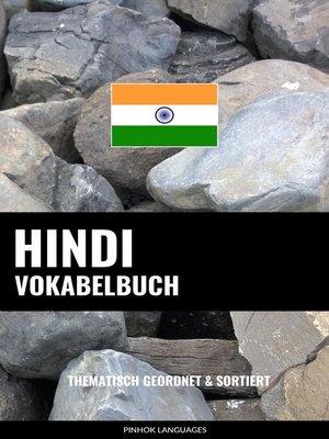 cover image of Hindi Vokabelbuch