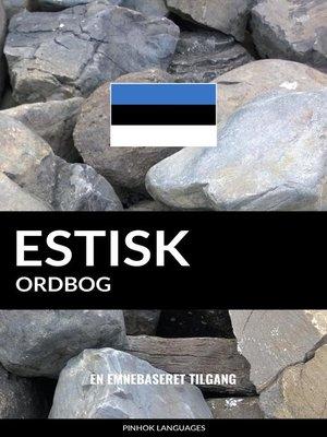 cover image of Estisk ordbog