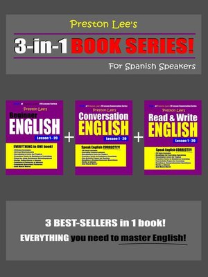cover image of Preston Lee's 3-in-1 Book Series! Beginner English, Conversation English & Read & Write English Lesson 1