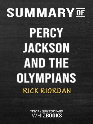 cover image of Summary of Percy Jackson and the Olympians by Rick Riordan / Conversation Starters