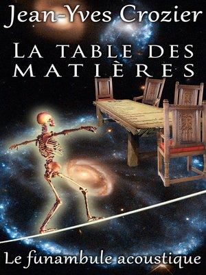 cover image of La Table Des Matières