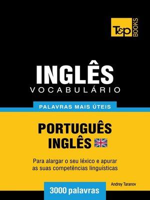 cover image of Vocabulário Português-Inglês britânico