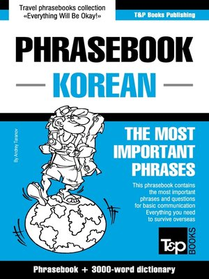 cover image of English-Korean phrasebook and 3000-word topical vocabulary