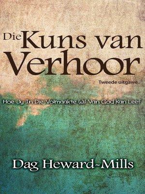 cover image of Die Kuns van Verhoor