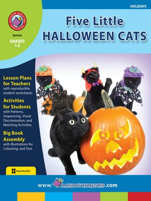 cover image of Five Little Halloween Cats