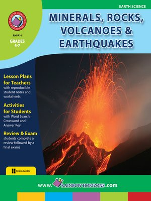 cover image of Minerals, Rocks, Volcanoes & Earthquakes