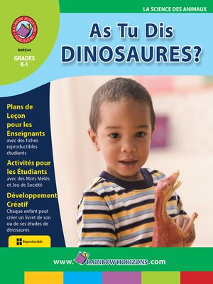cover image of As Tu Dis Dinosaures?