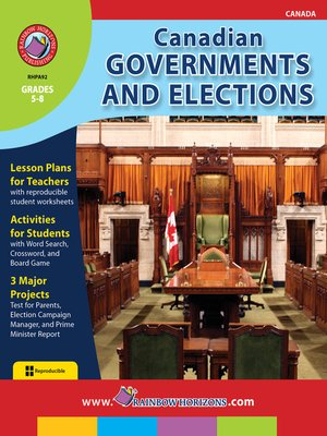 cover image of Canadian Governments and Elections