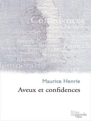 cover image of Aveux et confidences