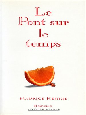 cover image of Pont sur le temps