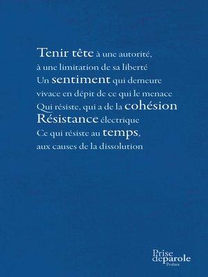 cover image of Poèmes de la résistance