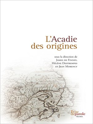 cover image of Acadie des origines