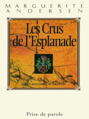 cover image of Crus de l'Esplanade