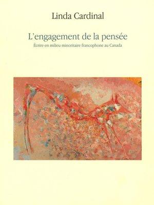 cover image of Engagement de la pensée (L')