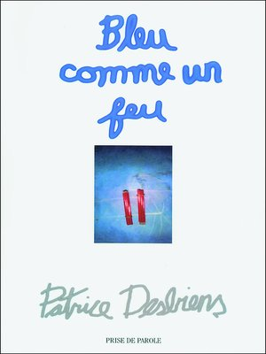 cover image of Bleu comme un feu