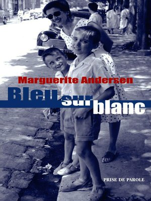 cover image of Bleu sur blanc