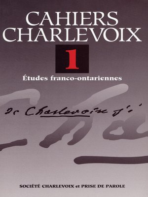 cover image of Cahiers Charlevoix 1