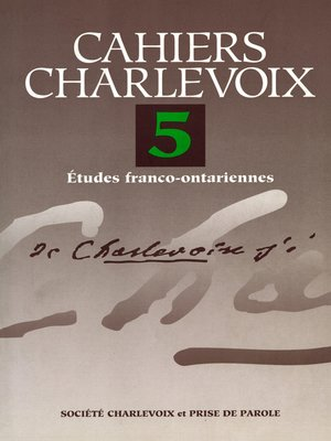 cover image of Cahiers Charlevoix 5
