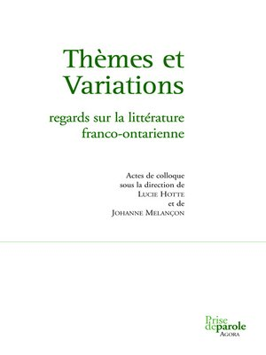 cover image of Thèmes et variations