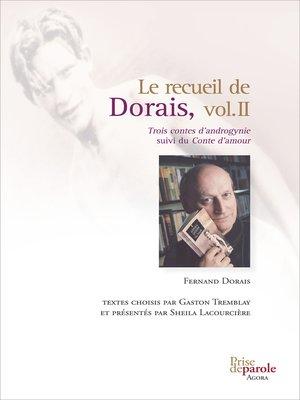 cover image of Le recueil de Dorais, Volume 2